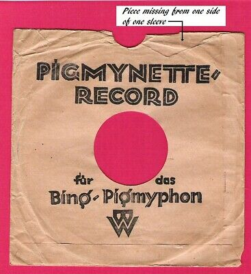 Two ORIGINAL Complete Record Sleeves Pigmyette Records For Bing-Pygmyphon
