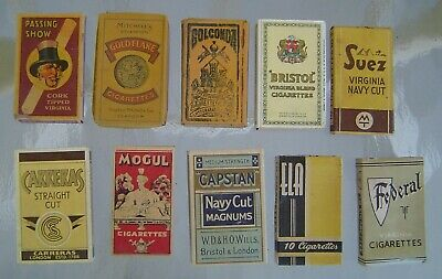10 Different Vintage Collectable Cigarette Packages for display - Lot 3