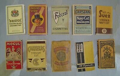 10 Vintage Collectable Cigarette Packages for display - Lot 5