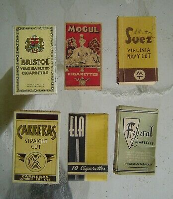 6 Different Vintage Collectable Cigarette Packages for display  Lot 21