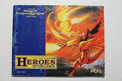 Advanced Dungeons & Dragons Heroes of the Lance (Nintendo NES) Manual