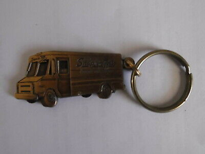 Vintage Snap On Tools Brass Truck Key Ring Chain Old Logo Mint