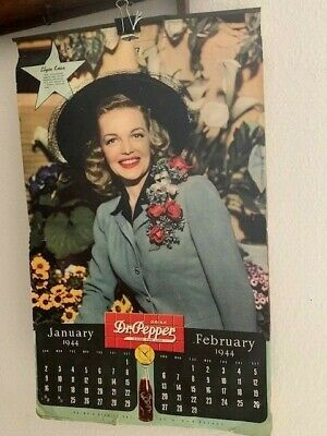1944 Dr. Pepper Wall Calendar - 6 pages!!