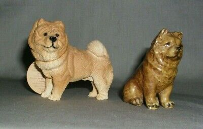 Two Vintage Chow Figurines from Morten Studios and The Canine Collection