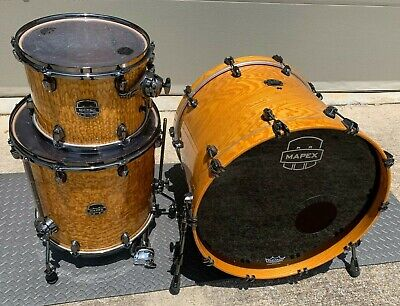 Mapex Saturn IV MH Exotic 4 Pc Shell Pack - 22 10 12 16 - Natural Ash Burl