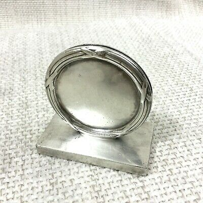 Vintage Silver Plated Menu Holder Table Place Card Walker & Hall Ribbon Reed