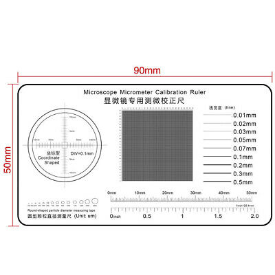 special micrometer calibration ruler for microscope Film Point Gauge High Precis