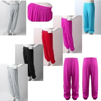 Unisex Kids Boys Girls Harem Pants Super Soft Loose Yoga Pilates Sport Leggings