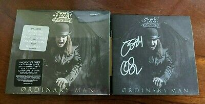Autographed Ozzy Osbourne Ordinary Man Signed Sealed CD AND DIGITAL