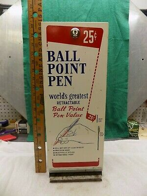Vintage 25 cent ball point pen dispenser vending machine coin operated original