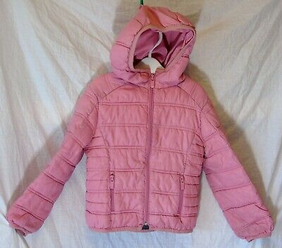 Girls Zara Light Pink Lightly Padded Hooded Spring Summer Coat Age 3-4 Years
