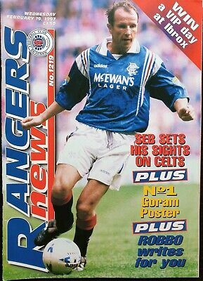 Rangers News Issue No. 1219 19Th February 1997