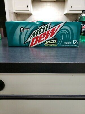 Baja Blast Mountain Dew 12 pack cans