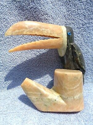 Tropical Alabaster Toucan Figurine 5.5""