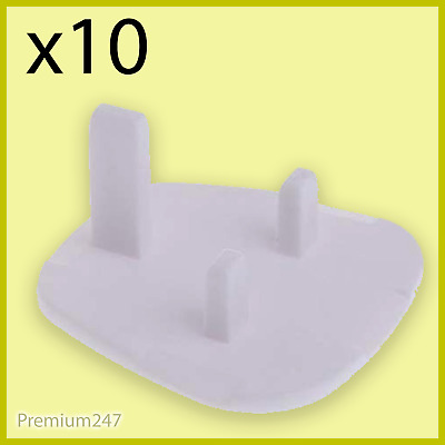 10 x Mains Electrical Plug Socket Safety Cover Baby Child Safety Protector 3 Pin