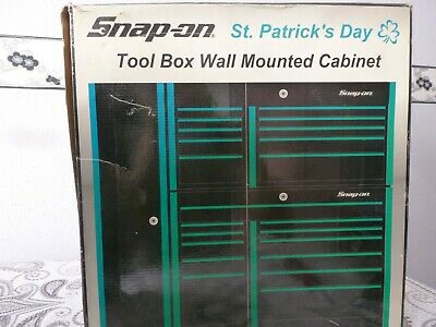 Snap-On Tools Collectable Wall Mounted St.patricks Day Tool Box Liquor Cabinet