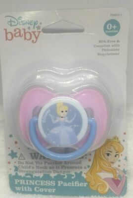 Disney Princess Pacifier with Cover 0+ months *New* Free Shipping