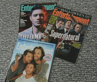 SUPERNATURAL (3) Entertainment Weekly Magazines 2017 2019 2020 * Jensen Ackles