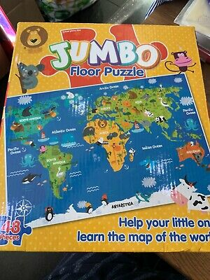 JUMBO FLOOR MAP OF THE WORLD PUZZLE  48pcPUZZLE Games