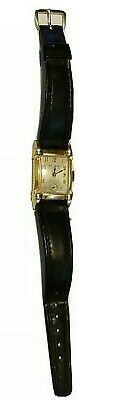 Vintage Bulova, 21 Jewels, Working Watch, Stainless Back, Gold Rectangular Shape