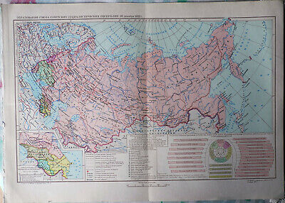 Set of Historical and Political Maps of Russia / Soviet Union from Encyclopedia