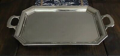 Large Sterling Tray, Unmarked 2,538 Grams 25 Inch