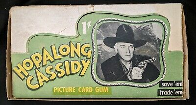 1950 Topps Hopalong Cassidy 1 Cent Counter Non Sports Cards Box