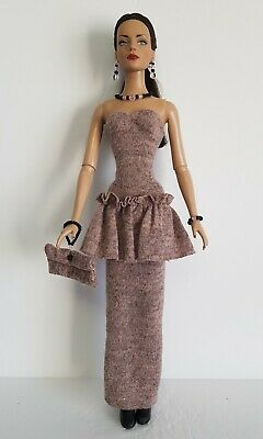 TYLER DOLL CLOTHES Retro Dress, Beaded Purse and Jewelry Set Fashion NO DOLL d4e