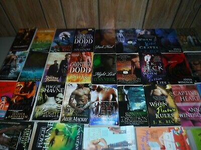 Huge Lot Of 32 Paranormal Romances Novels By Popular Authors Paperbacks (English