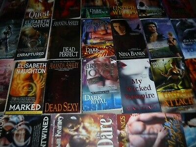 Huge Lot Of 32 Paranormal Romances By Assorted Popular Authors Paperbacks (Engli