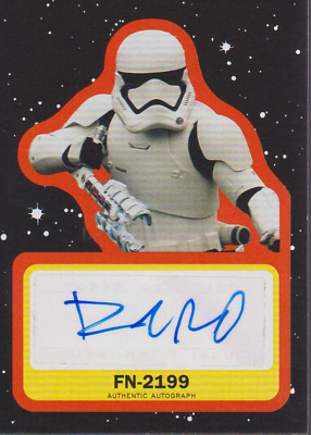 """2019 Topps STAR WARS:RISE OF SKYWALKER """"FN-2199* DAVID ACORD AUTO #'D 50 !!WOW!!"""