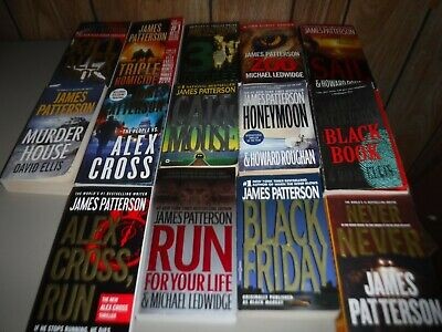 Lot Of 13 Mystery Novels By James Patterson Paperbacks (English)