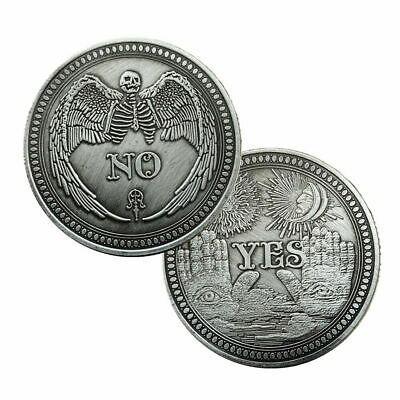 Yes/No Ouija Gothic Prediction Decision Coin - Angel of Death