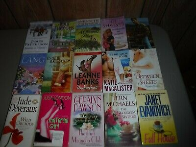 Lot Of 15 Fiction Novels By Assorted Authors Paperbacks English