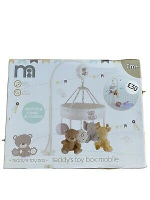 Mothercare Teddys Toy Box Cot Mobile - Soothing Music & Motion