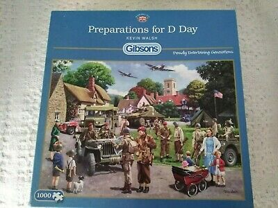 Preparations for D Day Gibsons wartime jigsaw puzzle 1000 pcs, Vgc. complete