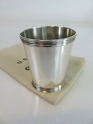 Benjamin Trees Kentucky Sterling Silver Mint Julep Cup & Pouch, c1950s