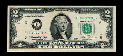 """"""" STAR """"1976 $ 2 Federal Reserve Notes Circulated"""