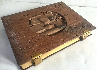 19thc Antique German Carved Woman Photo Album Fine - Old Estate Collection