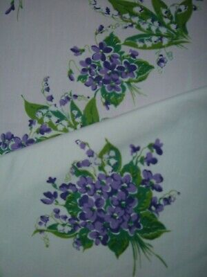 Vintage Tablecloth Violet Lily Of The Valley
