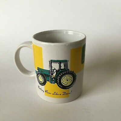John Deere Nothing Runs Like a Deere Tractor Logo Coffee Mug Gibson 10oz Mug