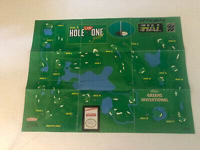 "HAL's Hole In One Golf Super Nintendo SNES 2-Sided Poster/Map 15""x11"" Good Cond"