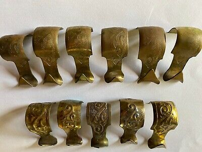 11 Brass Victorian Picture Rail Hooks