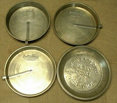 3 Vintage Cake Pans 1 Pie Pan Bake King Round Tin Cake Pans New England Farm