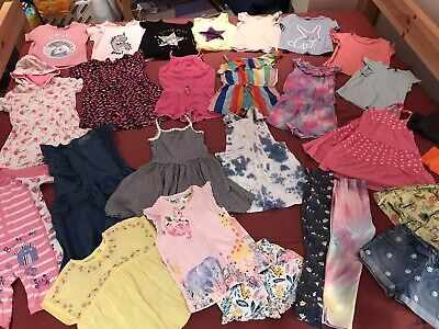 HUGE Girls 3-4 Years Summer Rainbow Unicorn Clothes Outfit Bundle - NEXT, George