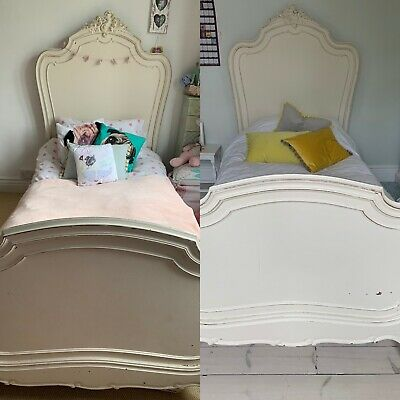 Two Authentic French Antique Style Single Beds