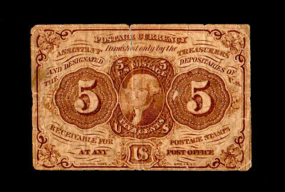 1862 5c United States Fractional Currency Circulated