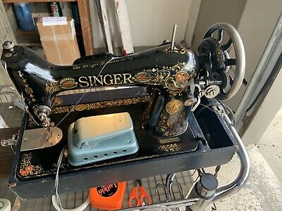 Antique Pat 1910 Electric Model Singer Sewing Machine  Works