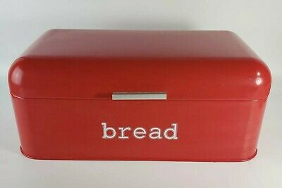 Red Stainless Steel Large Capacity Retro Bread Snack Box