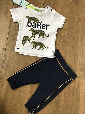 New Ted Baker Baby Boys 2pcs Outfit Set Top & Trousers Size 6-9 Months